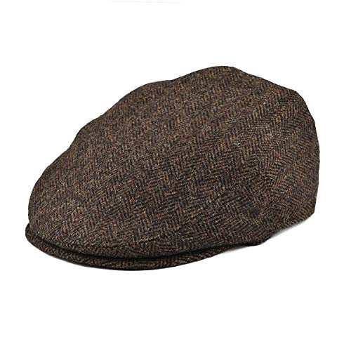 (BOTVELA Men's 100% Wool Flat Cap Classic Irish Ivy Newsboy Hat (Coffee, S))
