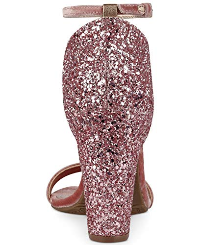Rosa Donne Occasione Delle Cinghia Alla Congettura Punta Bambam Tessuto Aperta Multi Caviglia Speciale Sandali qZwWP