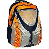 Children Sports Outdoor Backpack w/ Daily Chain / Student School Bookbag, Orange