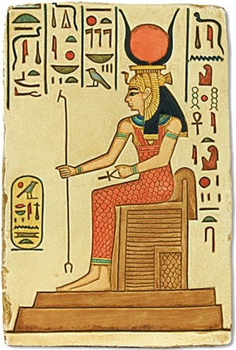 The Museum Store Hathor Seated on Throne Relief, Color Details