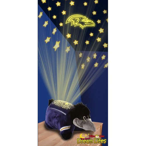 Baltimore Ravens Team Button - Fabrique Innovations NFL Baltimore Ravens Dream Lite Pillow Pet