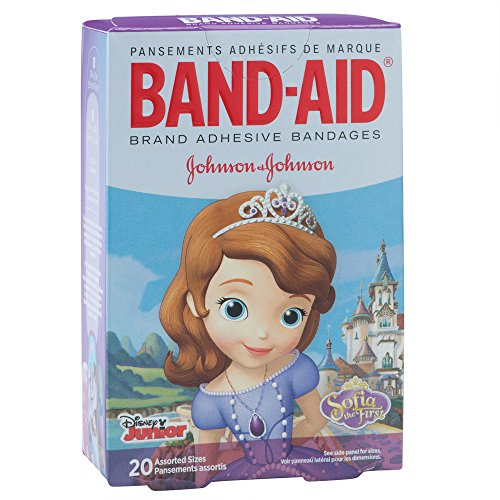 BAND-AID Sofia the First Bandages - First Aid Supplies - 20 per Pack