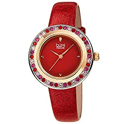 Swarovski Colored Crystal With Diamond Marker & Leather Strap