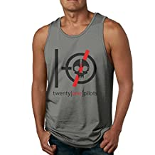 Mens Twenty One Pilots Tank Top Sleeveless T-Shirt Fitness Gym