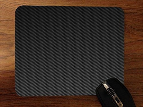 Carbon Fiber Black Grey Pattern Background Desktop Office Silicone Mouse Pad by Moonlight Printing