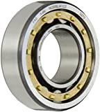 FAG NU205E-M1-C3 Cylindrical Roller Bearing, Single Row, Straight Bore, Removable Inner Ring, High Capacity, Brass Cage, C3 Clearance, 25mm ID, 52mm OD, 15mm Width