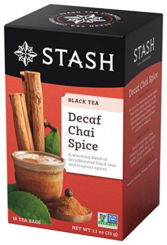 Stash Tea Decaf Chai Spice Tea, 18 Count Tea Bags (Pack of 6)