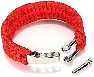 TENGGO 7 Brins Bracelet Paracorde Chaîne Cordon Main Ring avec Boucle De Manille De Dégagement Rapide pour La Survie-Bleu