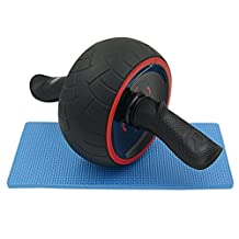 Luxurysmart AB Roller Wheel, Fitness Wheel & Abdominal Carver To Workout, Exercise & Strengthen Your Abs & Core - Plus, Get A FREE Pro Knee Mat To Supplement Your Training