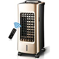 GX&XD Bladeless quiet Air conditioner fan,Evaporative coolers With remote control Double use for cold and warm Air cooler 4 caster wheels Air-A
