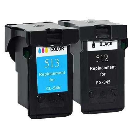 Teng® PG-512/CL-513 - Compatible con Impresora Canon Pixma iP2700 ...