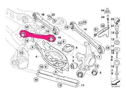 BMW e90 e92 Control Arm Rear Upper RIGHT Front LEMFOERDER w/ bushings