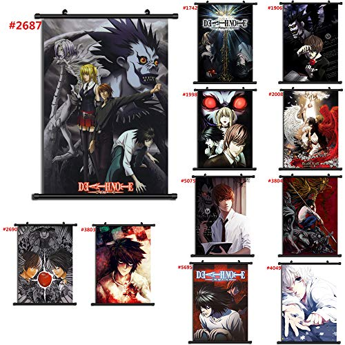 unbrand for Death Note Anime Wall Poster Scroll Room Home Decoration Wall Art