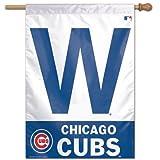 Cheap MLB Chicago Cubs Vertical Flag-W Logo (28 x 40 Cubs Flag)