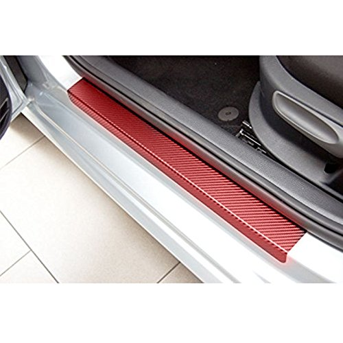 ETbotu Car Sticker Sedan Hatchback Car Door Sill Scuff Pedal Car Door Plate Protective Accessories