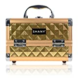 SHANY Mini Makeup Train Case With Mirror - Golden House
