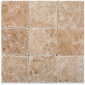 Walnut travertine 4 x 4 tumbled field tile 4 pcs sample set walnut travertine 4 x 4 tumbled field tile 4 pcs sample set ppazfo