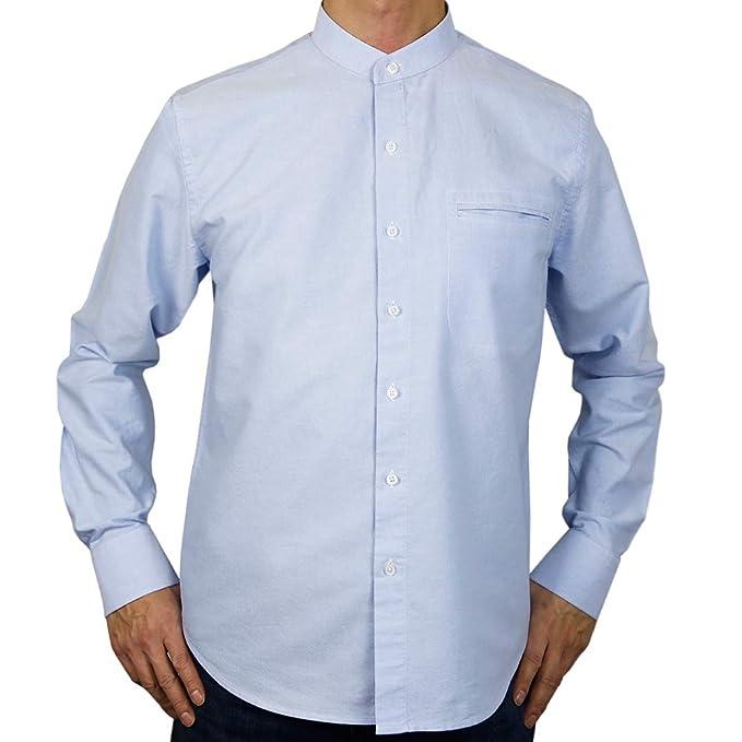 Sinologie - Camisa de Vestir - Cuello Mao - para Hombre  Amazon.es  Ropa y  accesorios a3cfa2ac8ff
