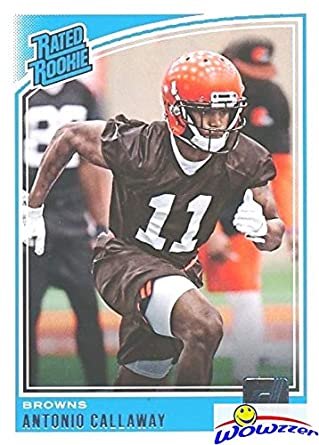 Antonio Callaway 2018 Donruss Football Rated Rookie ROOKIE Card  341 in  MINT Condition! de9e26351