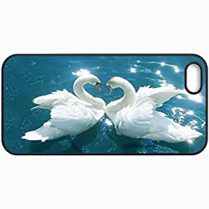 Customized Cellphone Case Back Cover For iPhone 5 5S, Protective Hardshell Case Personalized Love Birds Design Design Black