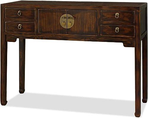 China Furniture Online Mahogany Finish Elmwood Mandarin Console