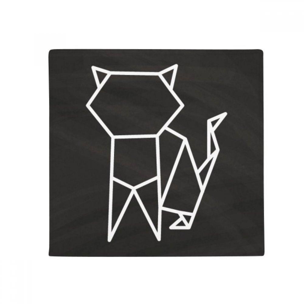 DIYthinker Abstract Origami Cat Geometric Shape Anti-Slip Floor Pet Mat Square Home Kitchen Door 80Cm Gift