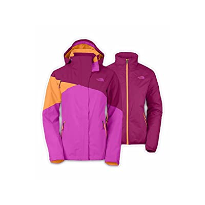 .com : The North Face Cinnabar Triclimate Jacket Womens (Small, Dramatic Plum/Luminous Pink/Impact Orange) : Clothing