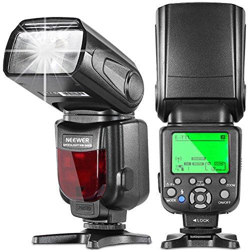 NEEWER NW660III 2 4G E-TTL HSS 1/8000s LCDディスプレイ ワイヤレスマスター/スレーブ ストロボ・フラッシュ・スピードライトCanon 7D 70D EOS Kiss X7i/X6i/X5/X4/X3/X7などのキャノンDSLRカメラに対応 の商品画像