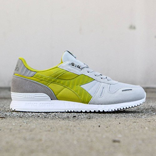 Diadora Men's Titan II Skate Shoe, Lunar Rock/Lemon Grass Green, 9.5 M US