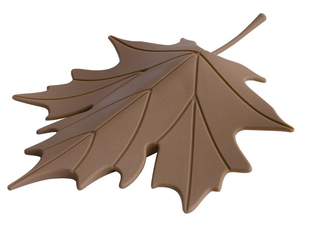 braun 14,7 x 18,3 x 3,5 cm EVA Unbekannt Qualy QL10072B T/ürstopper Autumn