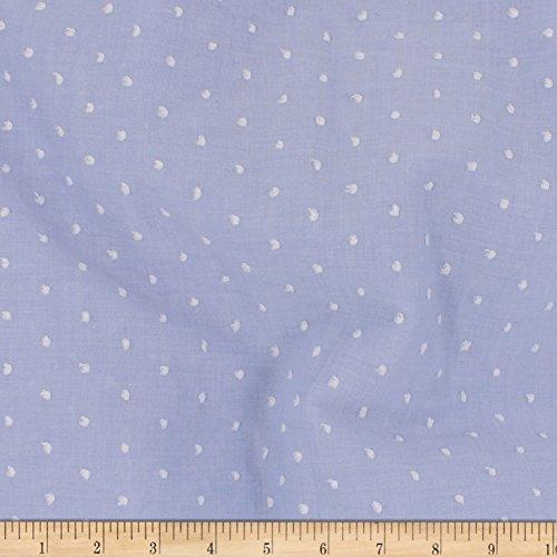TELIO Swiss Dot Pastel Blue Fabric by The Yard