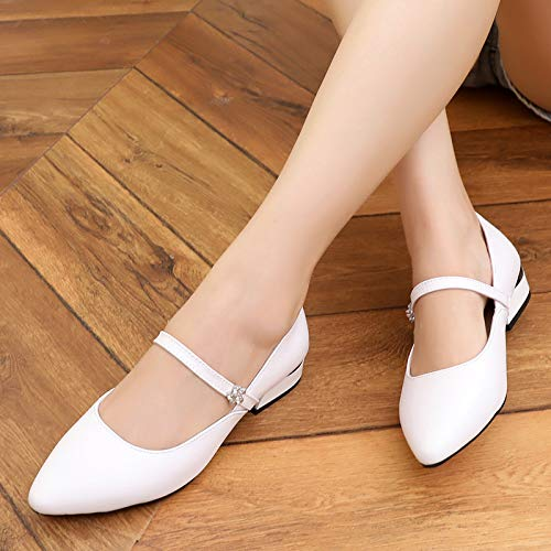 Low Heels Thirty Shoes Shallow KPHY Small Soft Shoes Gules Shoes Leather Seven Pointed Heels Autumn Leather Bottom 0607ntx