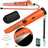 kuman Pin Pointer Metal Detector Kit with Multifunctional PVC Waterproof Case and Holster 360° Scanning Treasure Hunting Unearthing Tool Accessories Buzzer Vibration Automatic Tuning KW30S