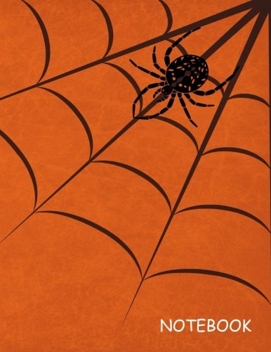 Notebook: Halloween Spider, Blank Unlined / Non-ruled Notebook - (Letter size 8.5 x 11 Inches) 100 Pages - 039: Great to Journal, Sketch, Draw, Diary, ... Track - Anything you (Drawing Spiders For Halloween)