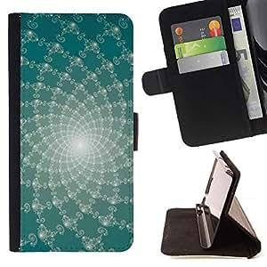 LG Magna / G4C / H525N H522Y H520N H502F H500F (G4 MINI,NOT FOR LG G4)Case , Líneas abstractas florales- la tarjeta de Crédito Slots PU Funda de cuero Monedero caso cubierta de piel