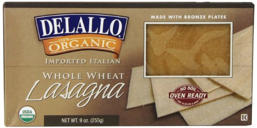 Organic Whole Wheat No Boil Lasagna 9 Ounces (12 per case)