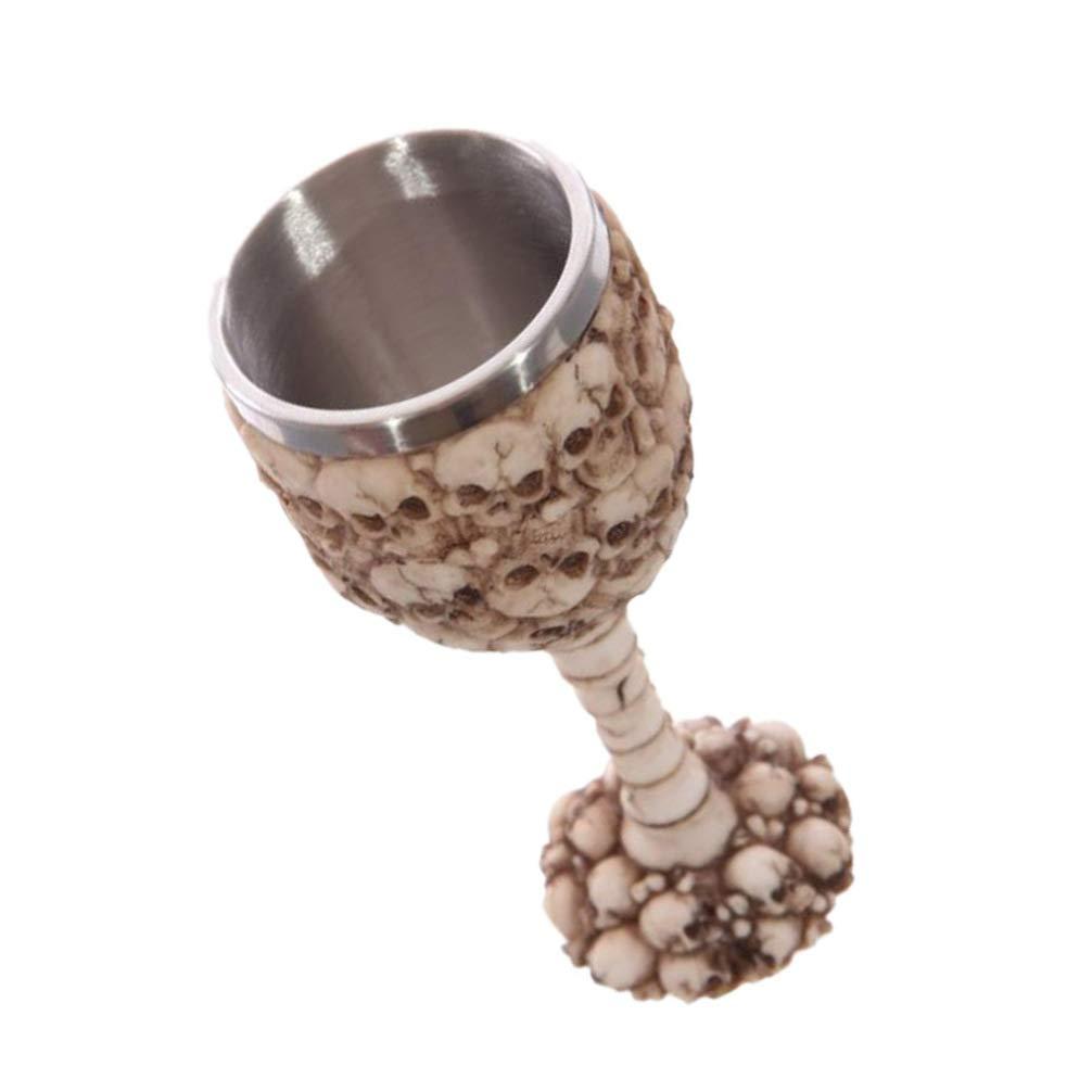 Happyyami Skeleton Skull Wine Glass Skull Drinking Cup Gift