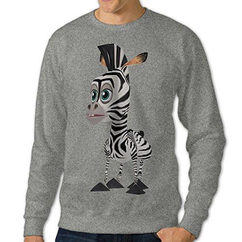 AcFun Men's Custom The Zebra Of Madagascar Sweater Size S Ash