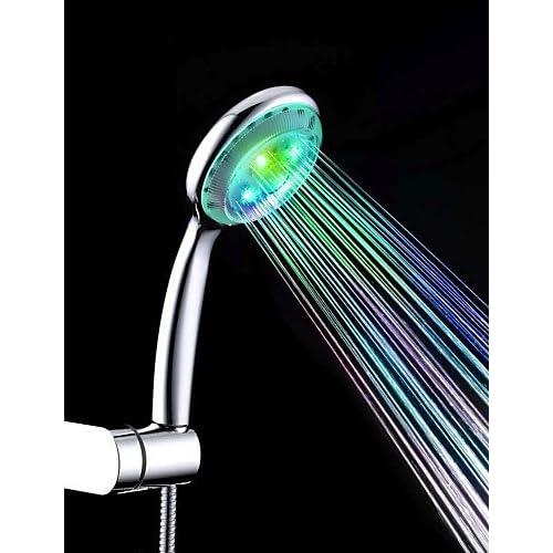 hot sale SAEKJJ-Colorful ABS LED Color Changing Hand Shower Bathroom faucet
