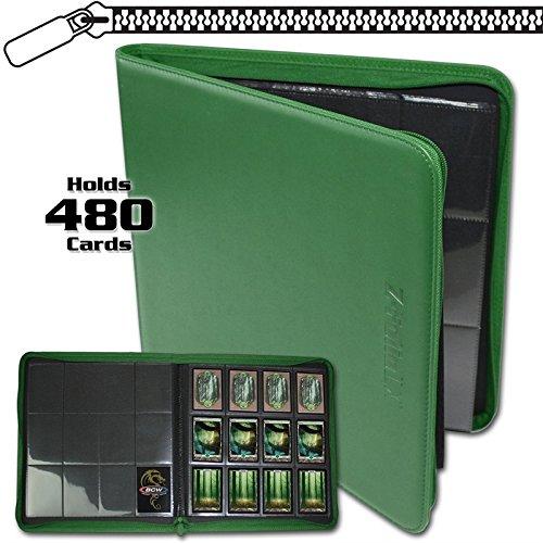 (BCW Z-Folio LX Zipper Portfolio Green 12 Pocket Playset Album)