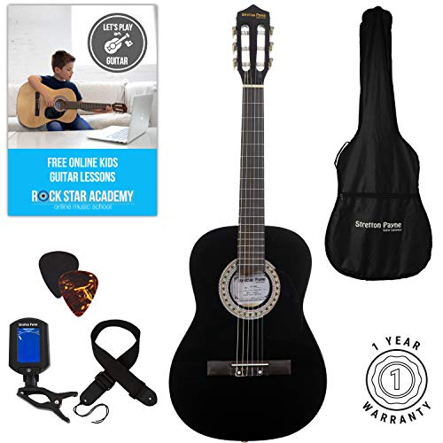 Acoustic Guitar Package 3/4 Sized (36' inch) Classical Nylon String Childs...