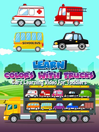 Learn Colors With Trucks Cars Learning Video For Toddlers