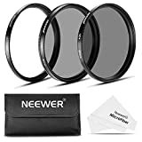 Neewer 67MM Lens Filter Kit: UV Filter+CPL Filter+ND4 Filter+Filter Pouch+ Cleaning Cloth for Canon Rebel with EOS 18-135mm EF-S IS STM Zoom Lens, Nikon 18-105mm f/3.5-5.6 AF-S DX VR ED Zoom Lens