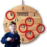 Elite Hookey Ring Toss Kids Games - Beautifully Finished Board, Just Hang it on a Wall and Start Playing - Great Indoor or Outdoor Game for Kids or Adults