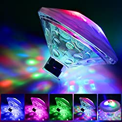 Bath Toys, Bath Lights for the Tub(7 Lighting Modes), Alrigon Bathtub Led Light Toys,Waterproof Colorful LED Bath Toys,Floating Lights for Bathtub Swimming Pool Party Bathroom Pond Spa