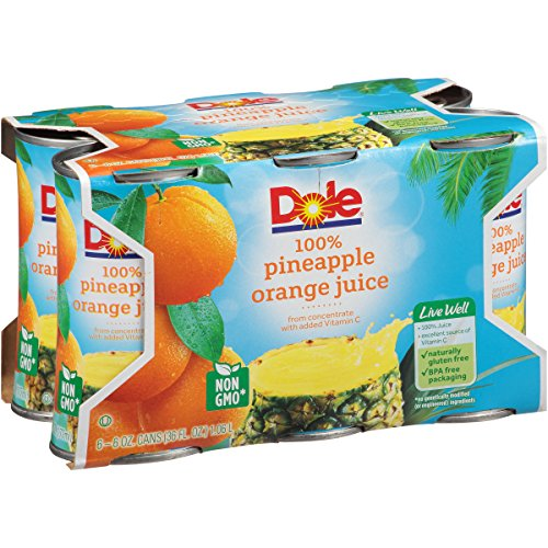 Pineapple Juice Punch - Dole Juice, Pineapple Orange, 6 Ounce (Pack of 48)