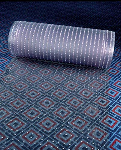 Clear Plastic Runner Rug and Carpet Protector mat Multi-Grip (18in x - Clear Runner Vinyl