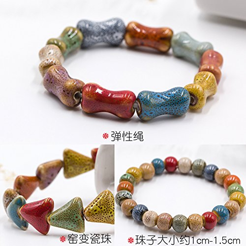 Yiwu stall supply ceramic bracelet trinkets child student ethnic style retro hand-woven bracelets wholesale