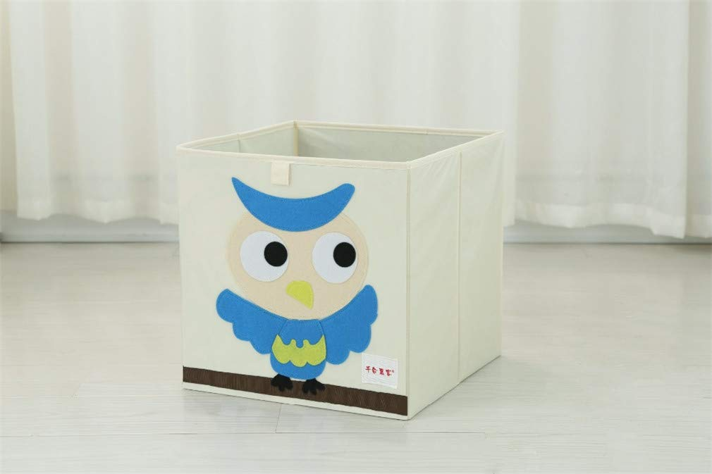 VADOLY 3D Embroider Cartoon Animal Foldable Kid Toy Organizer Clothes Storage Bin for Socks Underwear Ties Bra Desktop Box by VADOLY (Image #5)