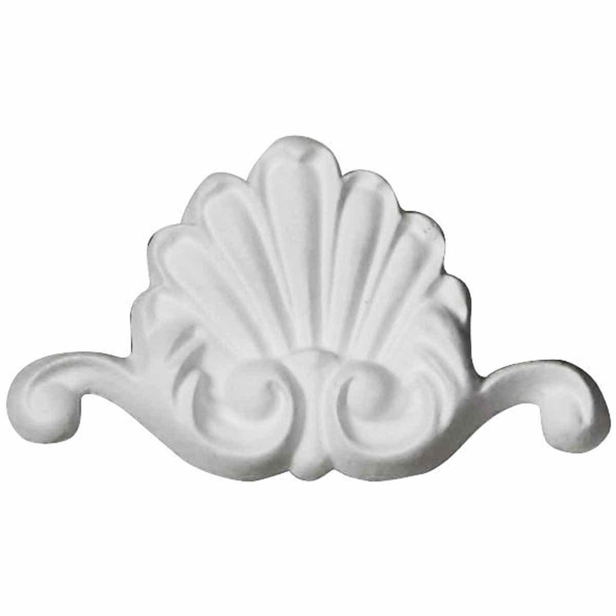 Ekena Millwork ONL03X02X00BO 3''W x 1 3/4''H x 3/8''P Bordeaux Shell Onlay White by Ekena Millwork (Image #1)